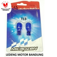 T13 Autovision Microzen Blue Lampu Bohlam Sen Senja Motor Mobil 12v10w