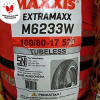 Ban Maxxis 100/80-17 M6233W Tubeles Velg ring 17