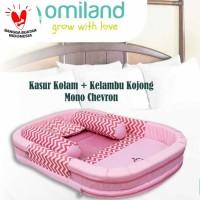 Omiland Kasur kolam + kelambu mono chevron | Kasur bayi omiland