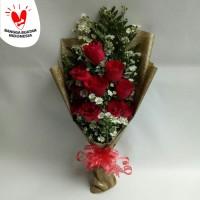 bunga buket wisuda bucket bunga mawar florist kado ulang tahun