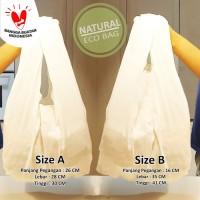 Tas Natural / Tas Reusable / Tas Reuse / Tas Recycle Bag Baggu Blacu - Putih, A