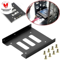 Bracket Mounting Kit Untuk HDD/SSD 2.5 Inch ke 3.5 Inch Black
