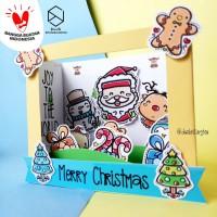 Kotak Hadiah Natal Kartu Ucapan Christmas 3D Pop Up Cinema Box