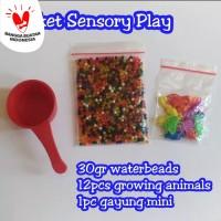 Paket Waterbeads 30 gr Mainan Sensory Montessori Growing Animal