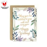 Kartu Ucapan Wedding / Pernikahan Dreamy Wedding Wish
