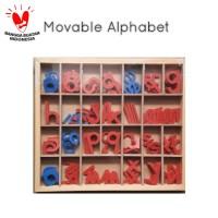 Mainan Edukasi Anak - Montessori Movable Alphabet Balok Kayu Alphabet