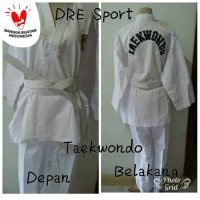 Baju Taekwondo dewasa S,M,L,XL - S