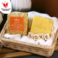 Adara Organic Handmade Baby Bastille Soap with Carrot - Unscented