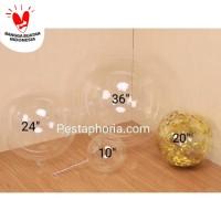 Balon PVC Transparan Size 36 ( 90 cm ) / Transparent Bubble Balloon Si