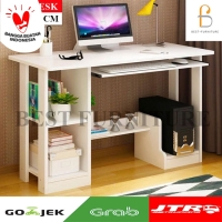 Best Cooldesk Meja Komputer Meja Belajar Multifungsi uk 90x43 - Putih