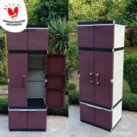 lemari plastik / lemari pakaian / lemari rotan full gantung jumbo