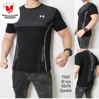 KAOS UAA ROBOT baju olahraga gym fitnes underarmour training / Running