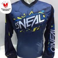 kaos jersey sepeda-baju kaos motor cross dwonhill oneal biru 861pjang