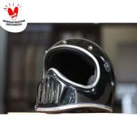 Cakil List Chrome - Hitam (BONUS Sarung Helm Backpack)