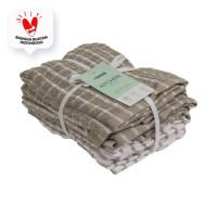 INFORMA- LAP KAIN - KITCHEN TOWEL SET OF 6 CHECK PATTERN BGE