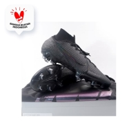 Sepatu Bola Nike Superfly 7 Elite FG Black Dark Grey AQ4174-001 Ori - 40