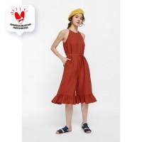 Therese Ruffle Hem Jumpsuit - Rust