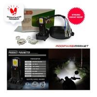 LAMPU MOTOR LED 3 SISI 3 MATA 3 LED HI/LO AC/DC ADAPTOR STROBO