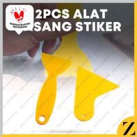 2Pcs Alat bantu pasang kaca film / stiker / wallpaper mobil motor Tool