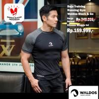 Baju Training / Running / Gym Waldos Black And Go