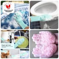 Silicone Dishwashing Glove Magic Sarung Tangan Cuci Piring Magic Sikat