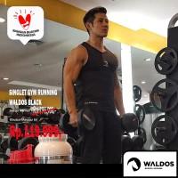 PROMO !!! Singlet Running Training Gym Waldos Black
