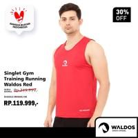 Singlet Running Training Gym Waldos Red - Merah, L