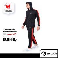 PROMO !! 1 Set Hoodie Waldos Running Gym Lari SALE