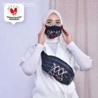 Waist Bag + Masker Tenun Ikat 3 Ply (UNISEX) Dakara Indonesia