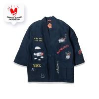 Socca Nose Art Navy Kimono Jacket