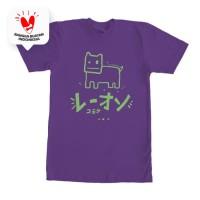 Kaos Graphic Tee T-shirt Oren Doodle Ungu - L