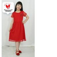Dress / Dress Anak Perempuan Red / Merah Rodeo Junior Girl Love