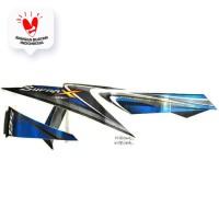 Sticker Body Kanan Black Blue – Supra X 125