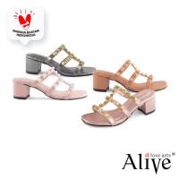 Alivelovearts Goro goro Sendal Heel Fashion Wanita