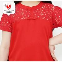 Dress / Dress Anak Perempuan Red / Merah Daisy Duck Love