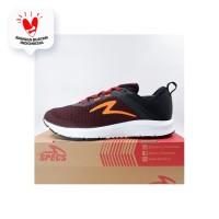 Sepatu Running/Lari Specs Cloudwave Maroon Orange 200645 Original BNIB