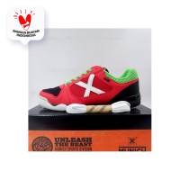 Sepatu Futsal Munich One Indoor 29 Red Black Green 3071029 Original