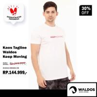 Kaos Tagline Waldos Keep Moving White - Putih, M