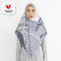 JENAHARA Colorfull Pattern Scarf - WHITE