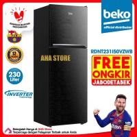 Beko Kulkas 2 Pintu Inverter 230 Liter RDNT231I50VZWB (FREE ONGKIR)