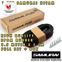 Lips Bumper Samurai Hitam Polos List Body Samurai Hitam EPDM Rubber