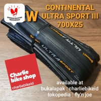 Ban Luar CONTINENTAL Ultra Sport 3 III 700x25 Performance Fold Black