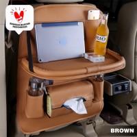 CAR SEAT ORGANIZER FOLDABLE TABLE SEAT ORGANIZER MEJA LIPAT PREMIUM