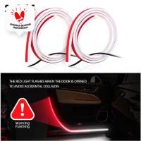 2 PCS LAMPU WARNING PINTU CAR WARNING DOOR LIGHT STRIP 1.2 METER IP67