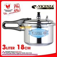 Vicenza Pressure Cooker 3L - Panci Presto