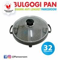Pamosroom Bulgogi Pan 32cm Korean Bbq Grill Panci Panggang Yakiniku