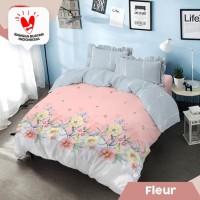 Kintakun D'Luxe Bed Cover size 160x200 cm - Fleur
