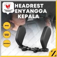 Headrest Penyangga Kepala Bantal Leher Jok Mobil Travel Neck Pillow