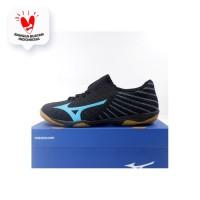 Sepatu Futsal Mizuno Rebula Sala Pro IN Black Blue Q1GA192125 Ori