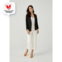 Elidi Tailored Jacquard Blazer - Black